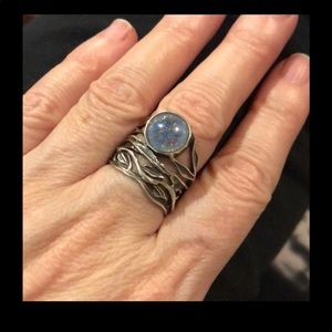 Or Paz moonstone sterling ring